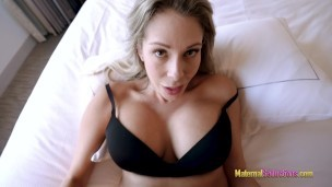 Step Mom Shows Me her New Tits and Lets Me Fuck Her – Nikki Brooks