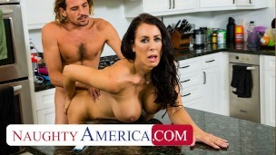 Naughty America – Reagan Foxx has her eye on her sons's friend and sees her chance to let him know.