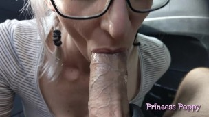 Daddy's Cum Slut – Car Blowjob Compilation for Father's Day