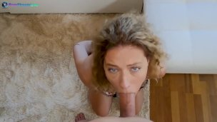 Curly haired Stasy Riviera cumming hard in anal sex